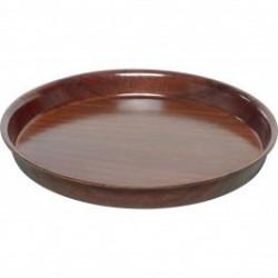 Dienblad Woodform rond, met hoge rand